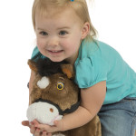 Chocolate 2-in-1 Pony features soft, huggable plush