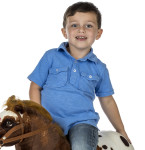 Domino makes galloping and trotting sounds when you tap his hindquarters