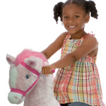 Daisy Spring Horse features motion-activated galloping sounds .