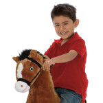 Diamond Spring Horse features motion-activated galloping sounds.