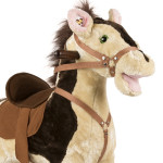 Sheriff Rocking Horse features soft plush over a lightweight, sturdy foam core