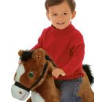 Thunder Rocking Pony is a soft, huggable plush pony