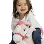 Twinkle Rocking Pony is a soft, huggable plush pony