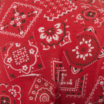 Bandana Rocking Pony features a bold bandana pattern for vintage, hand-crafted look
