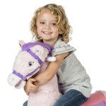 Lacey Spring Horse is made of soft, huggable plush