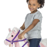 Pixie Rocking Horse features soft plush over a lightweight, sturdy foam core