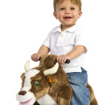 Brown Rocking Bull is a soft, huggable plush bull