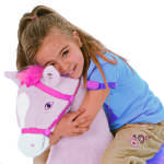 Daisy Spring Horse is a soft, huggable plush horse.