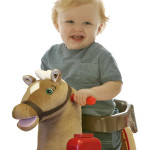 Legacy Grow-with-Me Pony has a removable safety seat.