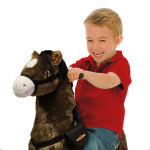 Legend Spring Horse features motion-activated galloping sounds.