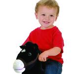 Black Rocking Pony is a soft, huggable plush pony