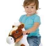 Painted Rocking Pony is a soft, huggable plush pony