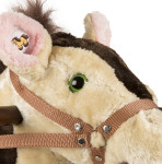 Sheriff Rocking Horse has colorful eyes and wood handles