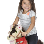 Sheriff Rocking Horse comes with a removable, wearable bandana